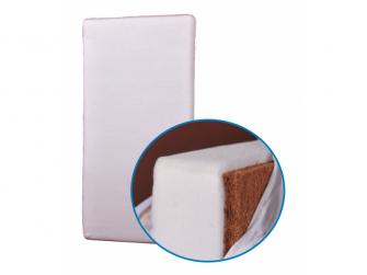 Matrace do postýlky ECO kokos/molitan 120x60x6 Bílá