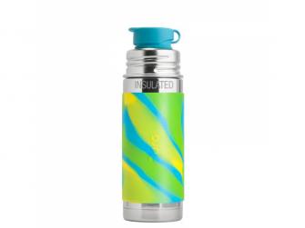 TERMO láhev se sportovním uzávěrem 260ml - zelená-aqua
