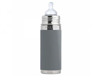 Kojenecká TERMO láhev 260ml - šedá