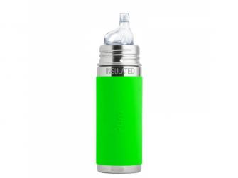 TERMO láhev s pítkem 260ml - zelená