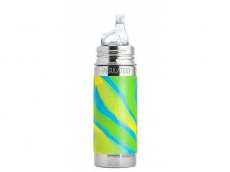 TERMO láhev s pítkem 260ml - zelená-aqua