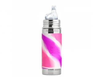 TERMO láhev s pítkem 260ml - růžovo-bílá