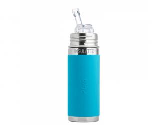 TERMO láhev s brčkem 260ml - aqua