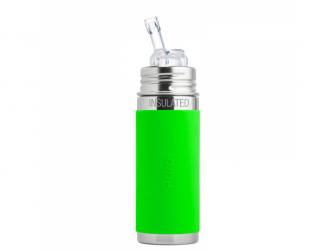 TERMO láhev s brčkem 260ml - zelená