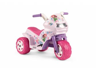 Dětská tříkolka DUCATI MINI EVO, s baterií 6V - růžová