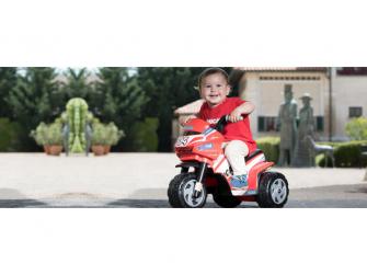 Dětská tříkolka MINI FAIRY, s baterií 6V - červená