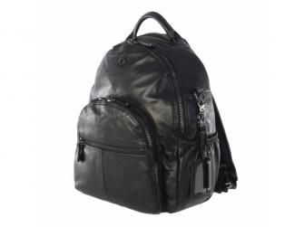 JOY XL BLACK-kožený přebalovací batoh 2