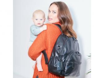 JOY XL BLACK-kožený přebalovací batoh 5