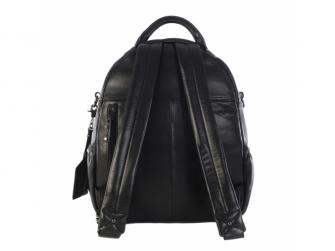 JOY XL BLACK-kožený přebalovací batoh 3