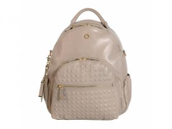 JOY XL STUDD COGNAC - kožený přebalovací batoh