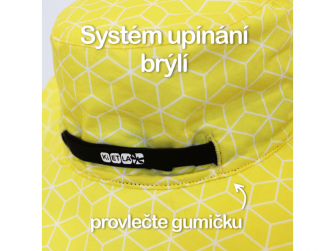 Klobouček oboustranný s UV ochranou -54cm - panama pink 6