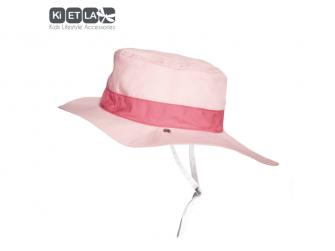 Klobouček oboustranný s UV ochranou -54cm - panama pink 3