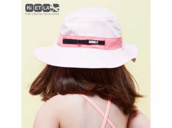 Klobouček oboustranný s UV ochranou -54cm - panama pink 5