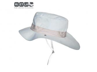 Klobouček oboustranný s UV ochranou -54cm - panama sky 2