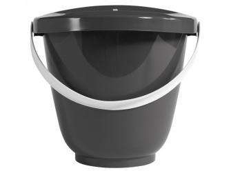 Kyblík na pleny s víkem dark grey 2