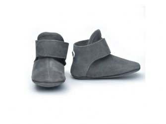 Walker Leather Basic Dark Grey 3 - 6 měsíců 2