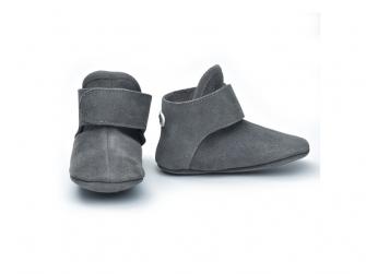 Walker Leather Basic Dark Grey 6 - 12 měsíců 2
