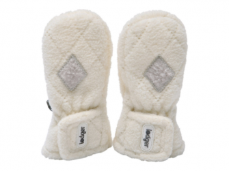 Mittens Fleece Scandinavian Off White