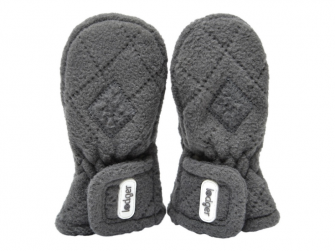 Mittens Fleece Scandinavian Coal