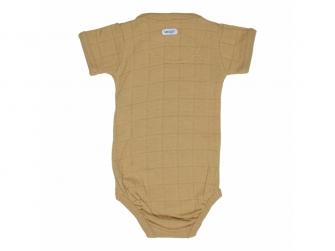 Romper Solid Short Sleeves Honey vel. 56 2