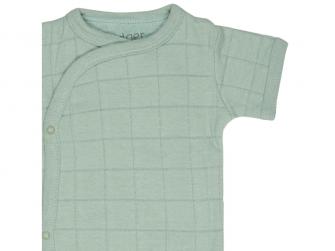Romper Solid Short Sleeves Silt Green vel. 68 3