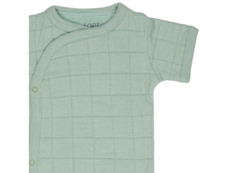 Romper Solid Short Sleeves Silt Green vel. 74 3