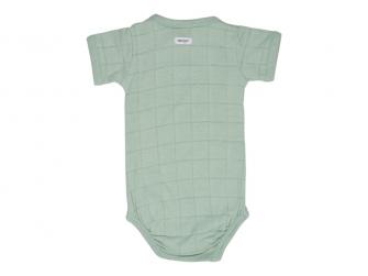 Romper Solid Short Sleeves Silt Green vel. 74 2