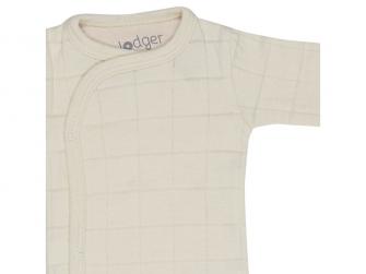 Romper Solid Long Sleeves Ivory vel. 74 3