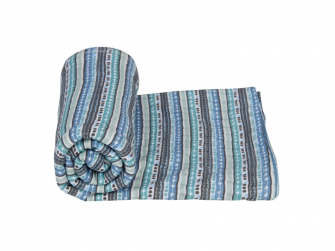 Swaddler Stripe Xandu 120 x 120 cm Dusty Turquoise 2