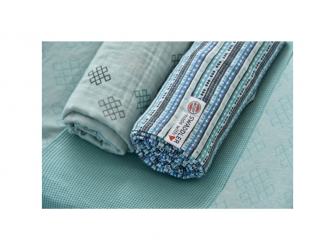 Swaddler Stripe Xandu 120 x 120 cm Dusty Turquoise 4