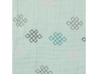 Swaddler Muslin Knot Xandu 120 x 120 cm Silt Green 3