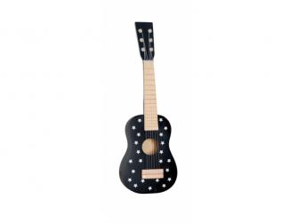 Dřevěná kytara černá
