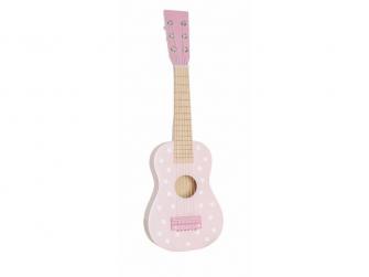 Dřevěná kytara růžová