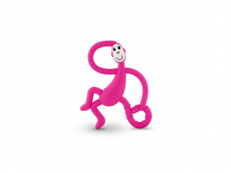 Dancing Monkey Teether, růžová