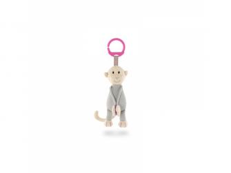 Pletené závěsné opice, růžová