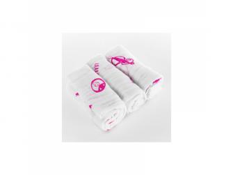 Organické plenky, 3ks v balení, růžové