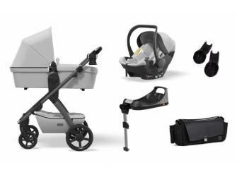 Set N° ONE 2021 MAXI Ice (kočár, autosedačka, Isofix base, adaptéry, pláštěnka, organizér, přebalovací taška)