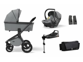 Set RESEA S 2021 MAXI Stone (kočár, autosedačka, Isofix base, adaptéry, pláštěnka, organizér)