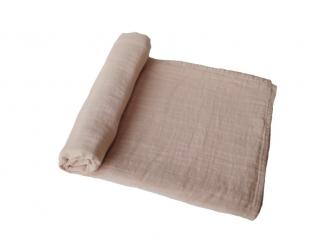 mušelínová zavinovačka z organické bavlny Pale Taupe 2