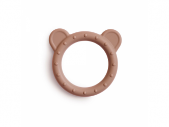 silikonové kousátko BEAR, Natural