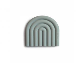 silikonnové kousátko RAINBOW, Cambridge Blue