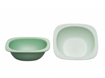 GREEN line miska, 2ks, green/light green 2