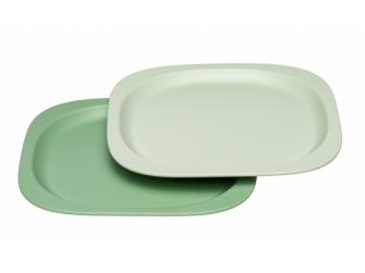 GREEN line talířek, 2ks, green/light green 2
