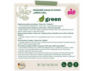 GREEN line talířek, 2ks, green/light green 3