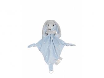 Plyšový zajíček - muchláček, modrý