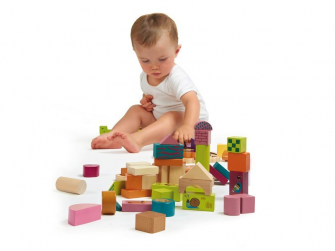 Happy Building Blocks - Dřevěné kostky
