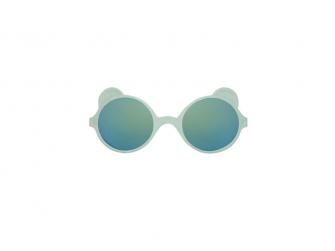 Dětské sluneční brýle OURS'ON 2-4 roky, almond green zrkadlovky