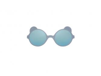 Dětské sluneční brýle OURS'ON 2-4 roky, silver blue zrkadlovky
