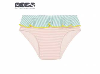 plavky s UV ochranou nohavičky 12 m, růžový proužek