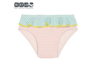 plavky s UV ochranou nohavičky 18 m, růžový proužek